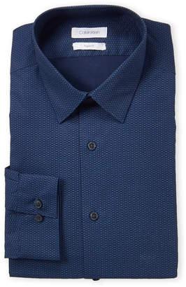 Calvin Klein Medium Blue Printed Shirt