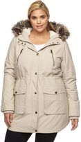 Apt. 9 Plus Size Hooded Faux-Fur Anorak Parka