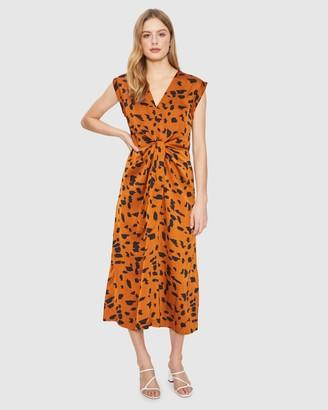 Cooper St Wild Cat Tie Midi Dress