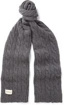 Oliver Spencer Arbury Cable-Knit Wool-Blend Scarf