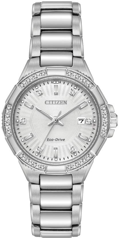 Citizen Eco-Drive Women's Riva Diamond Stainless Steel Watch - EW2460-56A