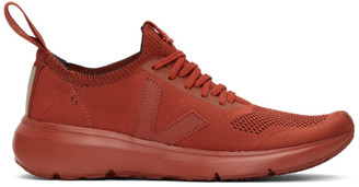 Rick Owens Orange Veja Edition Sock Runner Sneakers