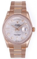 excellent (EX) Men's Rolex President Day-Date Meteorite Diamond Rose Gold Watch Dial 118205 - Automatic winding