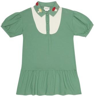 Gucci Kids Stretch-cotton dress
