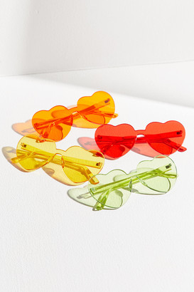 Urban Outfitters Heartbeat Mono-Cut Heart Sunglasses