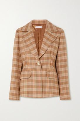 REJINA PYO + Net Sustain Edith Checked Tweed Blazer - Neutral