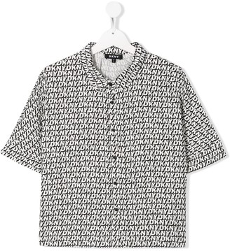 DKNY TEEN logo-print short-sleeved shirt