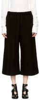MM6 Maison Martin Margiela Black Cropped Casentino Trousers
