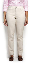 Classic Women's Plus Size Mid Rise Straight Leg Jeans-Flax