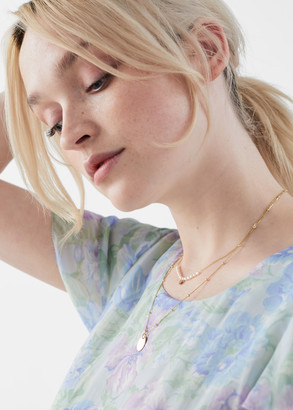 And other stories Duo Chain Pearl Pendant Necklace