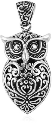 Shop Lc 925 Sterling Silver Owl Oxidized Tribal Pendant Necklace Jewelry