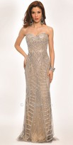 Jovani Divided Sequined Pattern Evening Dress