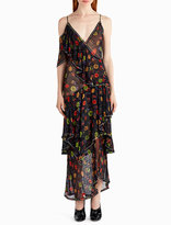 Jason Wu Crystal-Beaded Floral Chiffon Cocktail Dress