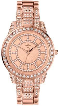 Rosegold Tu SPIRIT Lux Rose-Gold Stone Set Bracelet Watch