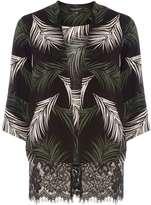 Dorothy Perkins Black Palm Leaf Print Lace Cover Up