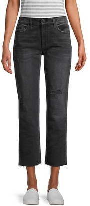 Joe's Jeans The Scout Mid-Rise Ripped Slim Tomboy Crop Jeans