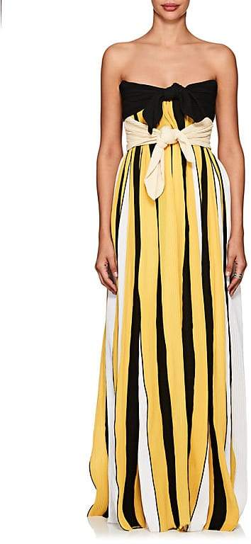 Derek Lam Women's Accordion-Pleated Crepe Strapless Gown