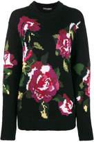 Dolce & Gabbana Flower knitted wool & cashmere sweater