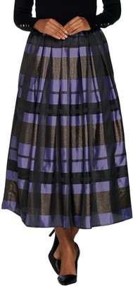 Joan Rivers Classics Collection Joan Rivers Petite Glamorous Plaid Midi Skirt