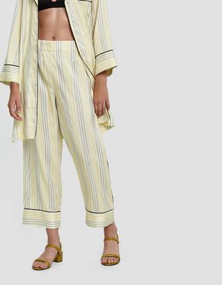 Ganni Bergamot Silk Pull-On Pant