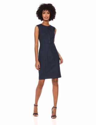 Elie Tahari Women's Plaid Suiting GALIENA Sheath Dress