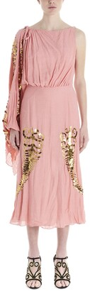 Prada Embellished Draped Dress