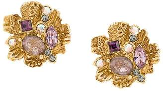 Christian Lacroix Pre-Owned cluster earrings
