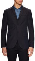 John Varvatos Linen Convertible Peak Lapel Cut Away Sportcoat