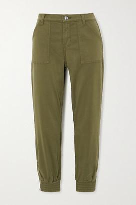 J Brand Arkin Cotton-blend Sateen Track Pants - Green