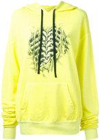 Unravel Project - bones print hoodie - women - Cotton/Spandex/Elastane - S