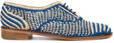 Robert Clergerie Oxford shoes - women - Raffia/Leather - 36