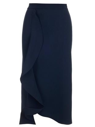 Alexander McQueen Draped Pencil Skirt