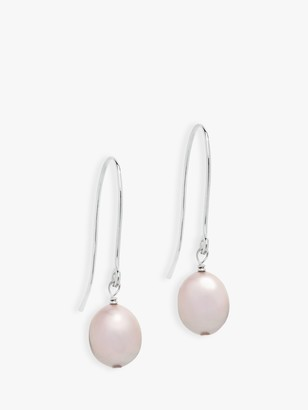 Claudia Bradby Pearl Drop Earrings, Pink