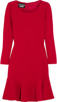 Moschino Fluted crepe dress