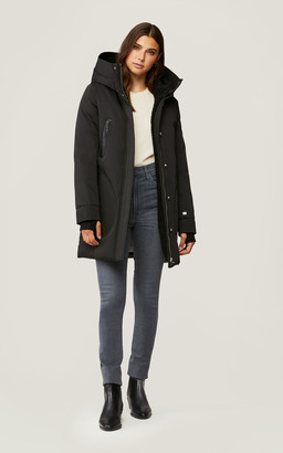 Soia & Kyo SAUNDRA classic down coat with a faux Sherpa lined hood