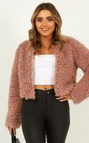 Showpo Keeping Cosy Jacket in blush - 6 (XS) Jackets