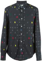 Kenzo letters button down shirt - men - Cotton - 41