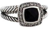 David Yurman Diamond & Onyx Petite Albion Ring