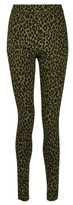 Dorothy Perkins Womens Tall Khaki Leopard Print Pull On Bengaline Trousers