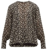 Isabel Marant Midway Floral-print Silk-blend Blouse - Womens - Black White