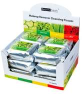 Beauty Treats Makeup Remover Cleansing Tissues - Green Tea - Case of 12 Packs