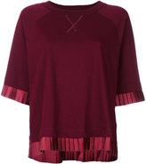 MM6 MAISON MARGIELA pleated trim T-shirt - women - Cotton - XS