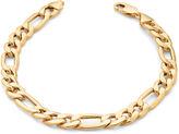 JCPenney FINE JEWELRY 10K Yellow Gold 5mm 9 Hollow Figaro Bracelet