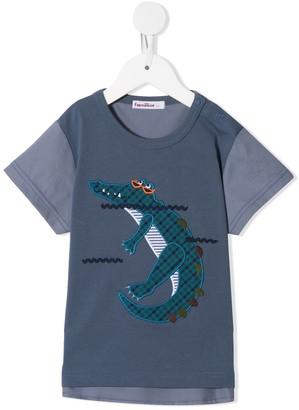 Familiar crocodile motif T-shirt