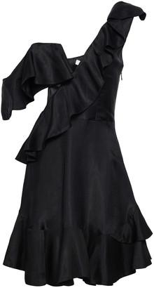 Zimmermann Cutout Polka-dot Twill Mini Dress