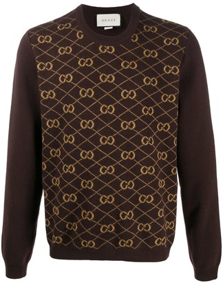 Gucci GG jacquard crew neck jumper
