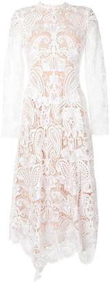 Jonathan Simkhai Lace-Patterned Long-Sleeved Midi Dress