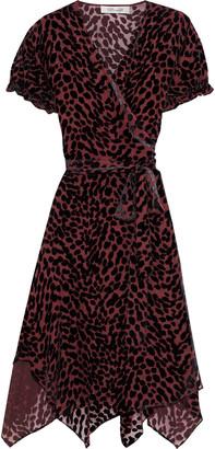 Diane von Furstenberg Katherine Devore-velvet Wrap Dress