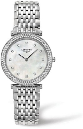 Longines La Grande Classique de Diamond, Mother-Of-Pearl & Stainless Steel Watch