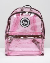 Hype Transparent Pink Backpack
